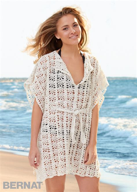 Crochet Cover Up bernat cover up crochet pattern yarnspirations