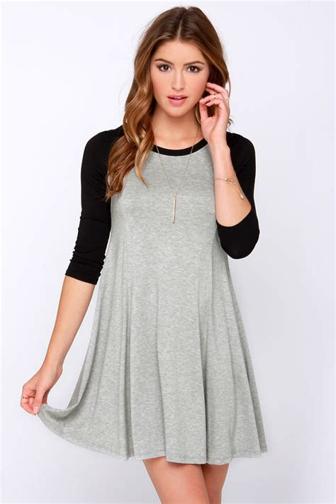 swing batter batter swing lulu s swing batter batter black and grey swing dress