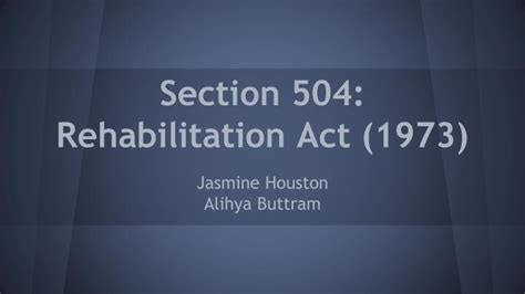 rehabilitation act of 1973 section 504 section 504 of the rehabilitation act of 1973 summary 28