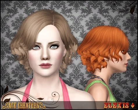 download wavy hair for sims 3 quot florence quot curly hairstyle by elexis ace creators