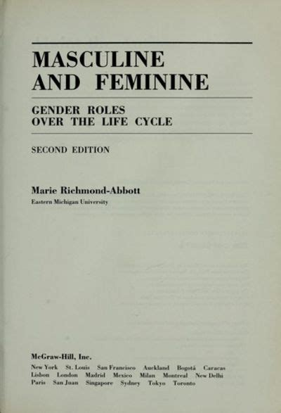 gender stereotypes masculinity and femininity masculine and feminine gender roles over the life cycle