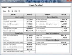 Balance Sheet Template Excel by Excel Balance Sheet Template Software
