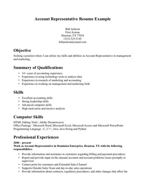 bank customer service resume representative sle no experience account exle customer