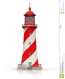 Seaside House Plans phare rouge sur le blanc photos libres de droits image