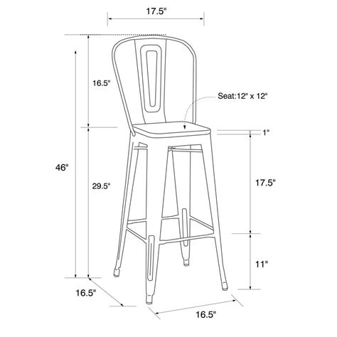 Dhp Luxor Metal Bar Stool by Dhp Luxor 30 Quot Metal Bar Stool With Wood Seat Set Of 2