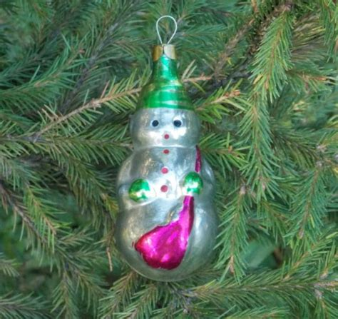 figural snowman new year tree vintage christmas snowman