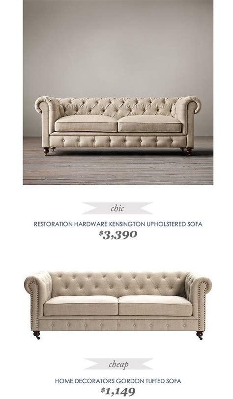 restoration hardware tufted sofa copycatchicfind restorationhardware kensington