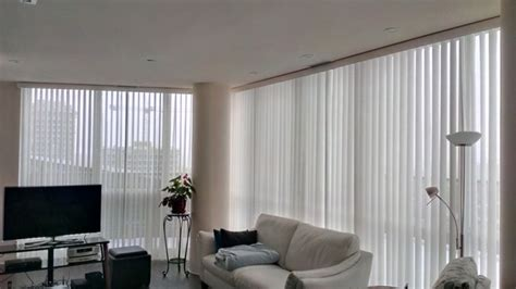 Living Room With Vertical Blinds Vertical Blinds In A Condo Modern Living Room