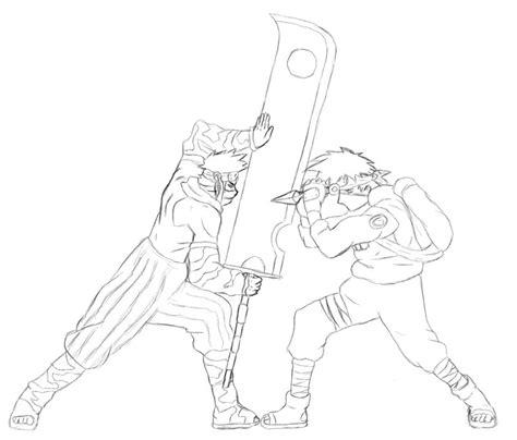 kakashi vs zabuza sketch by spyke18 on deviantart