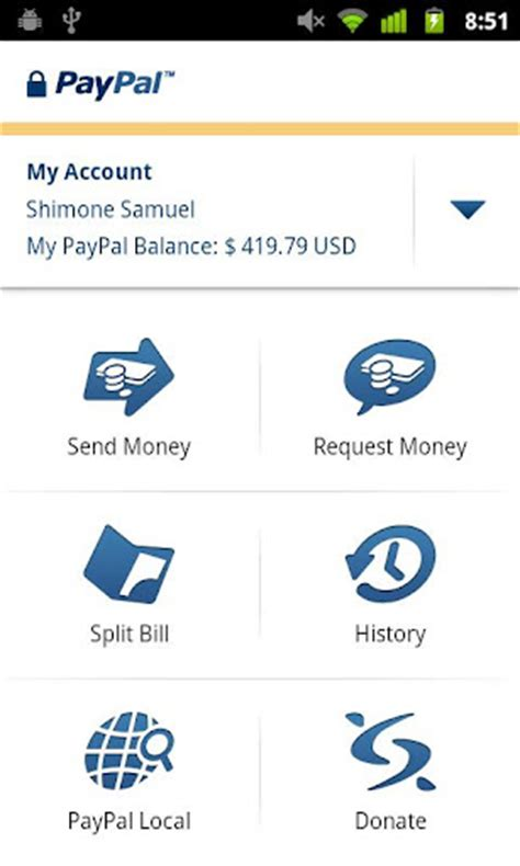 paypal app for android android paypal apps android apps s phone the world s simplest cell phone