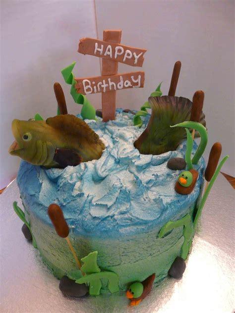 new year fish cake bass fishing birthday cakecentral