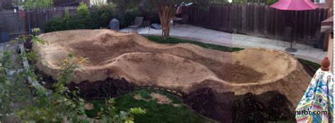 Backyard Pumptrack by Feature The Backyard Track Construction Mtbr
