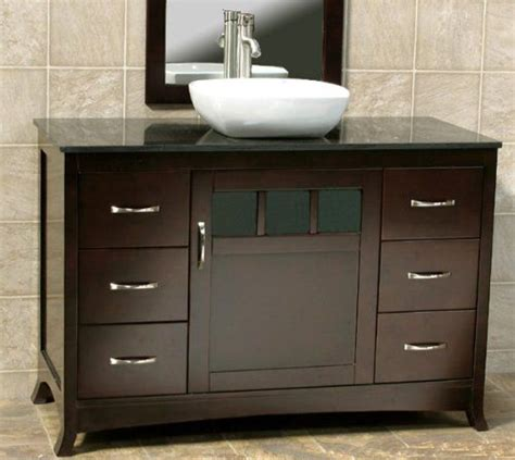 Black Wood Bathroom Vanity by Soild Wood 48 Quot Bathroom Vanity Cabinet Black Granite