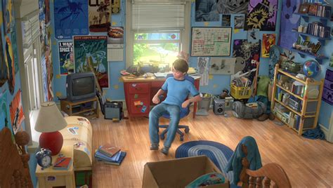 the room story andy s house pixar wiki disney pixar animation studios