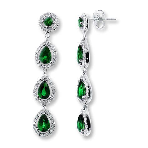 emerald earrings pastal names