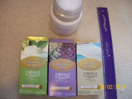 yankee candle fan free yankee candle fragrance fan 4 refills other home