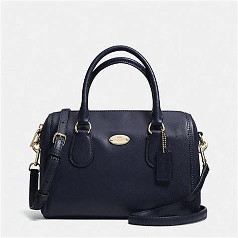 Coach Mini Bennet Midnight Navy Patchwork coach f33329 crossgrain leather mini satchel light gold midnight coach handbags