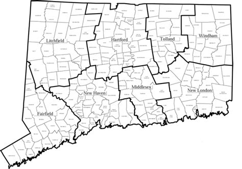 map of ct towns ct county map my