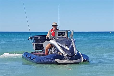 offshore fishing boat accessories pwc inflatable stabilizer sponson provides plenty of room
