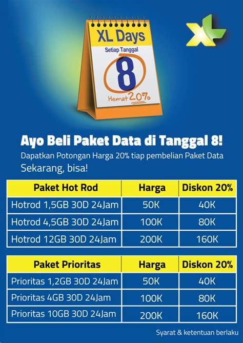 paket internet xl gratis promo paket internet xl murah diskon 20 persen april 2016