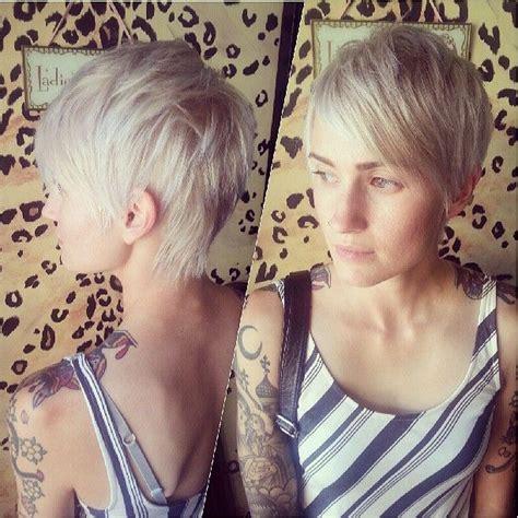 platinum blond pixie platinum blonde pixie pixie haircuts pinterest