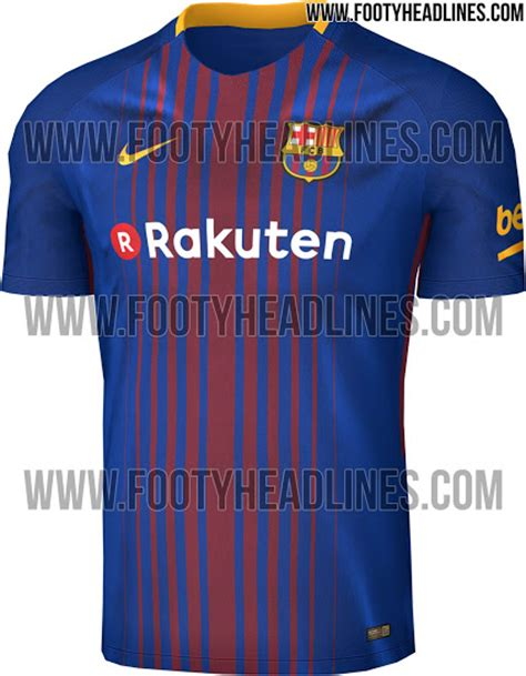 Barca Home New barcelona s new and blue home jersey for 2017 18