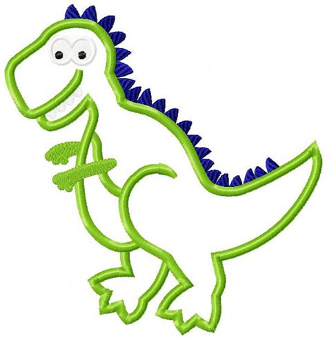 embroidery design dinosaur dinosaur t rex machine embroidery design