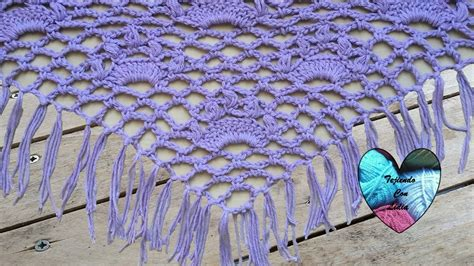 tejido de estolas sencillas chal tejido a crochet facil youtube