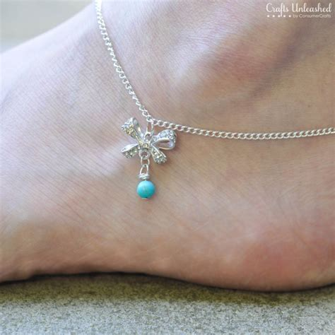 Anklet With Bow: DIY Jewelry   Crafts Unleashed