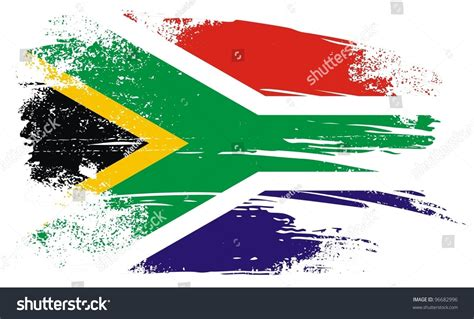 Address Search South Africa South Flag A Grunge Stock Vector 96682996