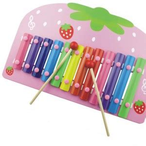 Strawberry Xylophone children wooden infant type strawberry xylophone