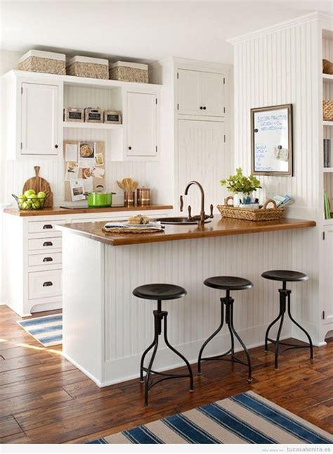 cocinas americanas con salon cocinas peque 241 as bonitas tu casa bonita