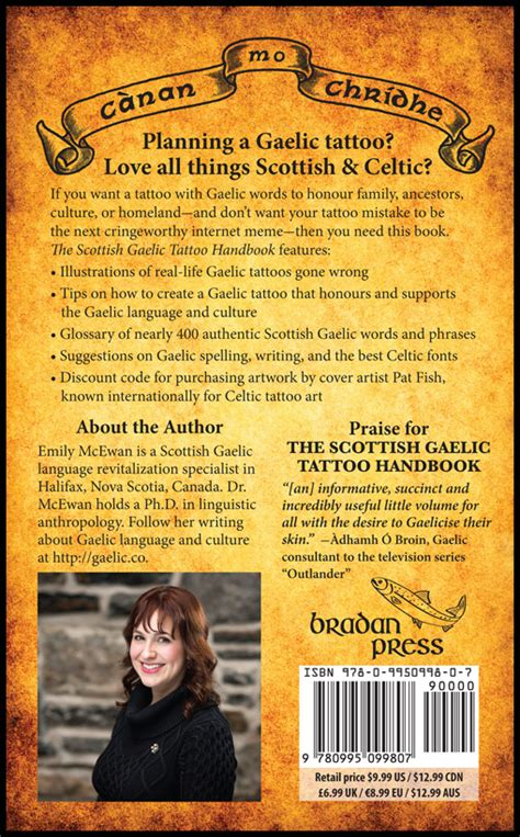 tattoo hand book scottish gaelic tattoo handbook luckyfish inc and