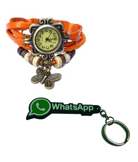 Chain Quartz Bracelet Orange adino vintage bracelet style orange designer quartz