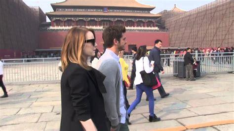emma stone urban dictionary andrew garfield emma stone visit forbidden city in china