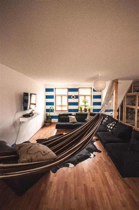 hammock in living room living room with hammock precurs casetta pinterest