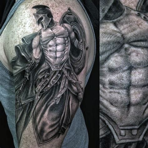 warrior tattoos for men 100 warrior tattoos for battle ready design ideas