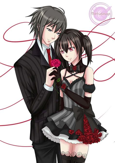 wallpaper gothic couple goth couple commission by batusawa on deviantart