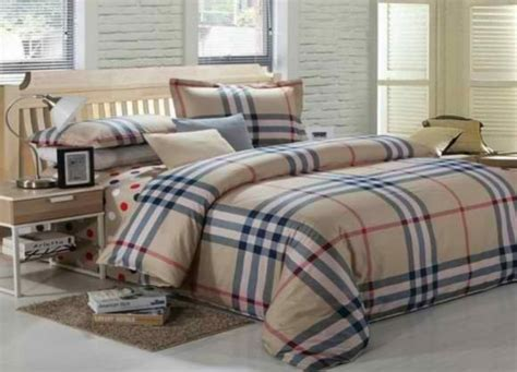 burberry bed set light in net designer bed cover set