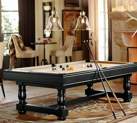 pottery barn pool table pottery barn turned leg pool table pottery barn
