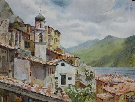festival painting lago di garda lago di garda painting by andrii gerasymiuk