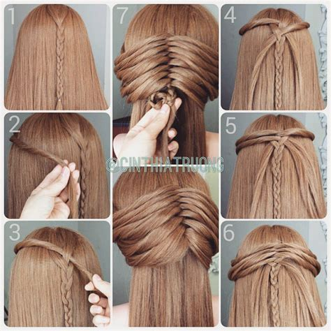 easiest type of diy hair braiding coiffure attach 233 e avec une tresse centrale d inspiration