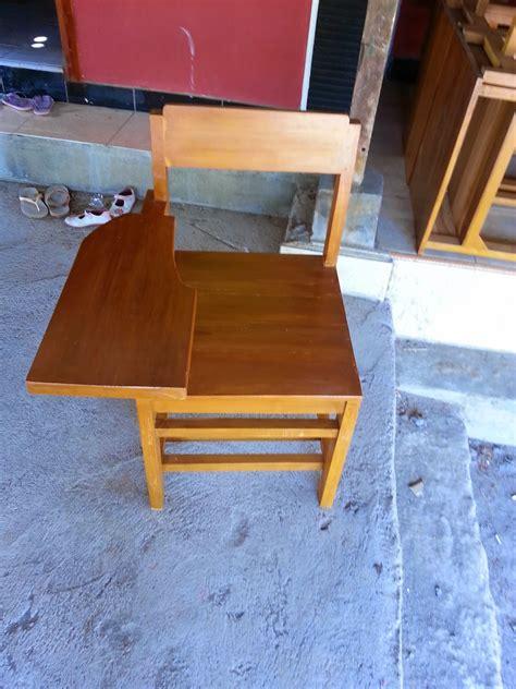 Meja Kayu Setengah Biro meja kursi sekolah kayu damaran jati jual meja kursi