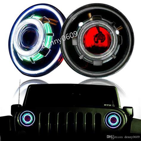 jeep wrangler jk hid headlights hid 7 35w led projector headlight for jeep cj wrangler jk