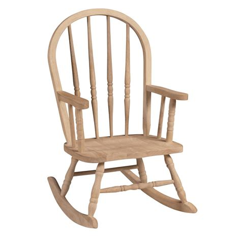 Unfinished Rocking Chair by Hton Bay Brown All Weather Wicker Patio