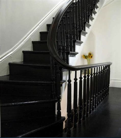 Black Handrails For Stairs black stairs balusters and handrail staircases