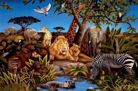 animal wall murals jungle animals wall murals realistic jungle theme wall decor large wall murals