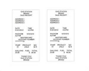 fuel receipt template sle receipt template 14 free word excel pdf format