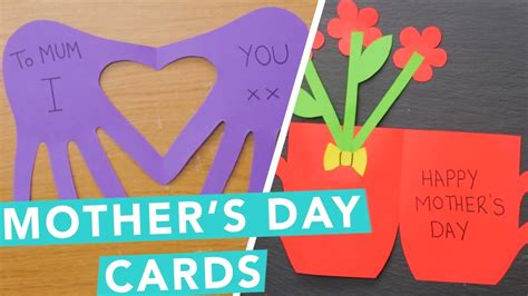 family mothers day cards preschoolers can make together with easy mother day cards for