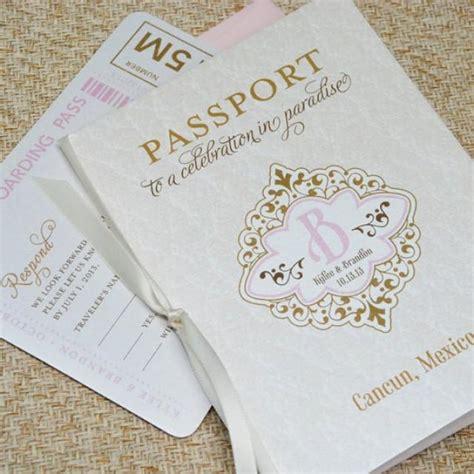 destination wedding invitations cancun vintage monogram passport wedding invitation cancun mexico design fee 2295942 weddbook